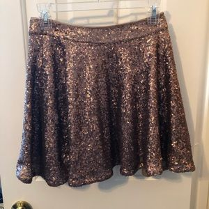 bronze sequined skirt size M